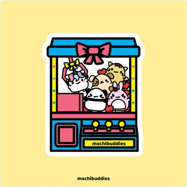 Mochi Buddies UFO Catcher Handmade Sticker