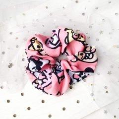 cute pink mochibuddies scrunchie